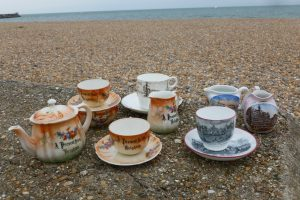 Tea sets on Brighton Beach