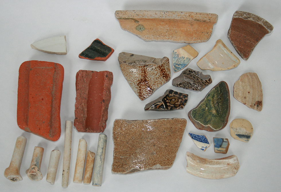 Finds on the Thames Beach by London Bridge